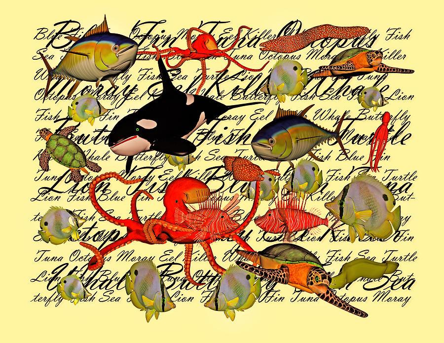Sea Digital Art - In Our Sea by Betsy Knapp
