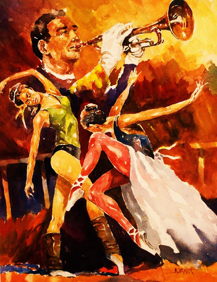 Dancers Painting - In Rehearsal by Al Brown