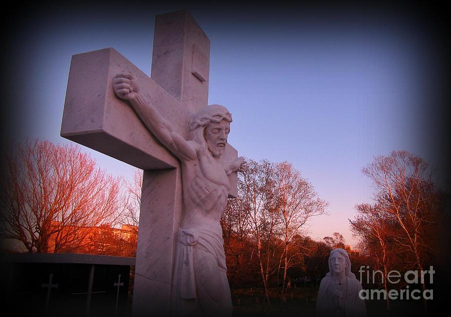 Crucifix Photograph - In Sacrifice Is Peace by John Malone