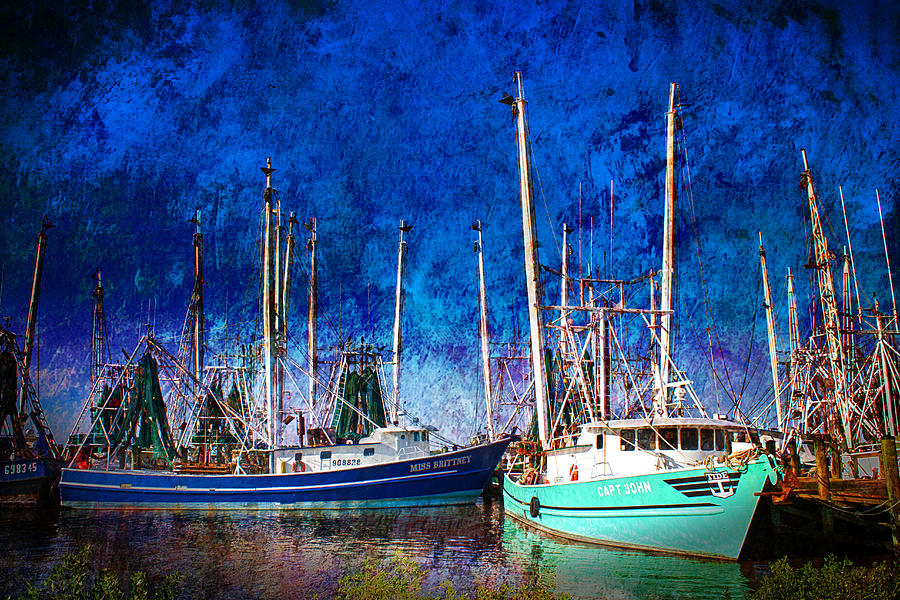 Shrimpboat Photograph - In Safe Harbor by Barry Jones