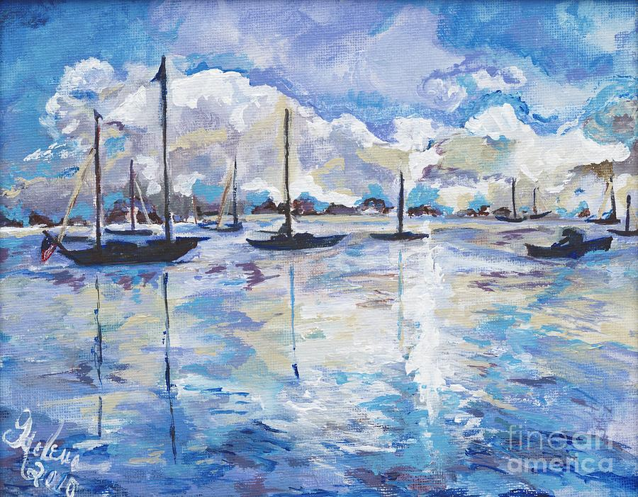 Water Painting - In Search For Americas Freedom by Helena Bebirian