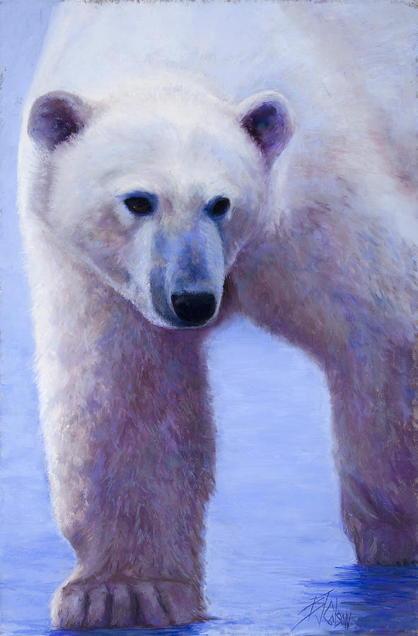 Polar Bear Painting - In Search Of by Billie Colson