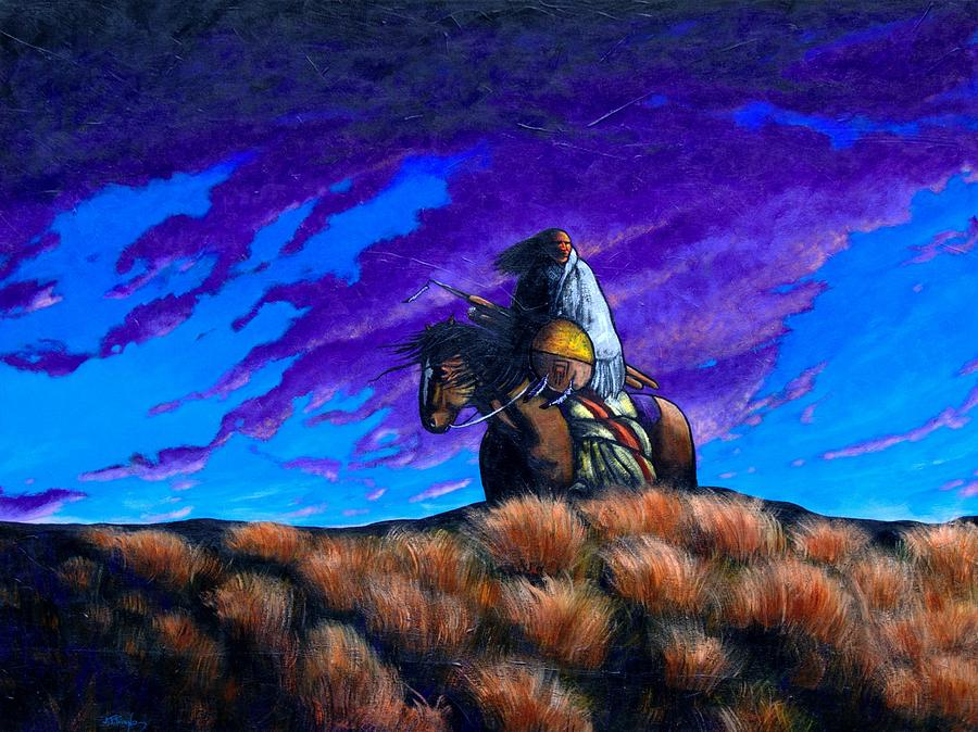 American Indian Painting - In Search Of The Vanished by Joe  Triano