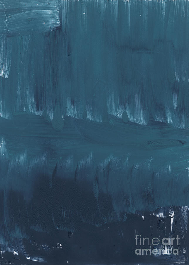 Large Abstract Blue Painting Painting - In Stillness by Linda Woods