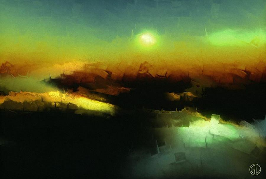 Abstract Digital Art - In The Afternoon Sun by Gun Legler
