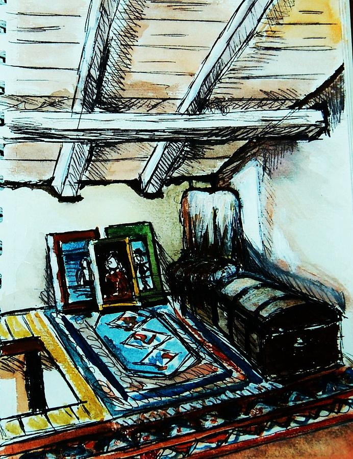 Interior Painting - In The Attic by Anne Parker
