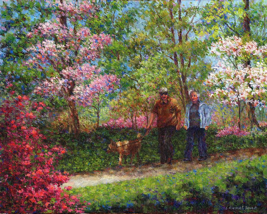 Park Painting - In The Azalea Garden by Susan Savad