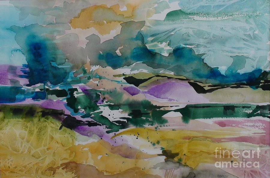 Abstract Painting - In The Beginning by Adair Bentley