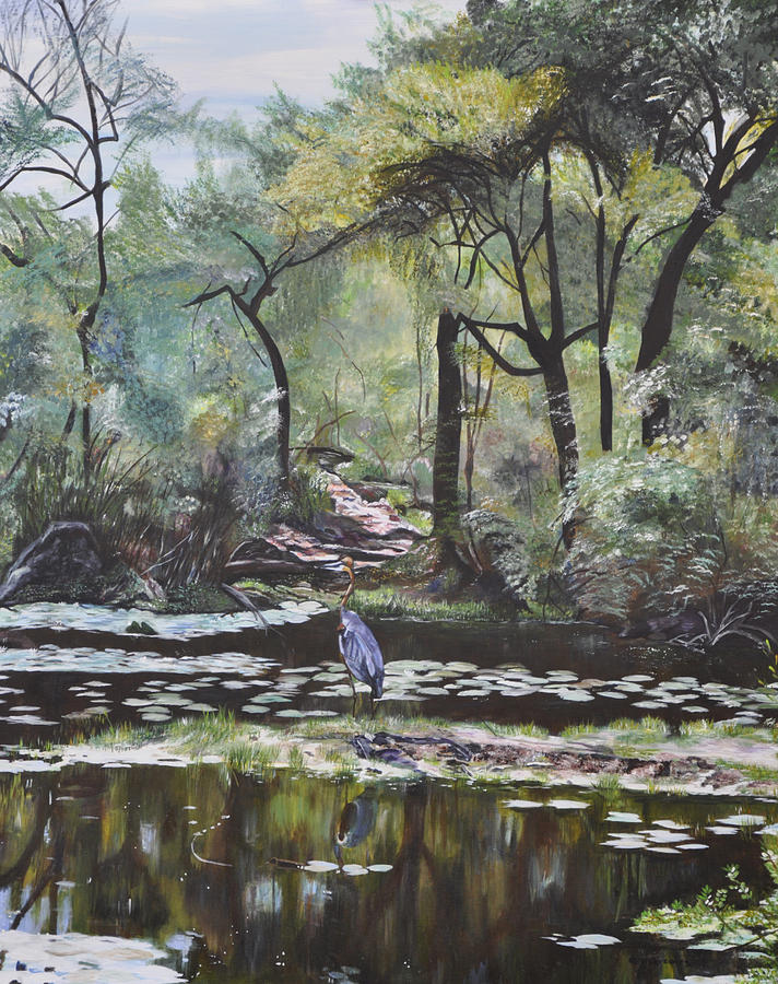 Lily Pads Painting - In The Beginning by Dottie Branchreeves