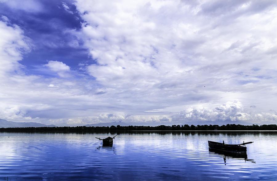 Autumn Photograph - In The Blue. by Slavica Koceva