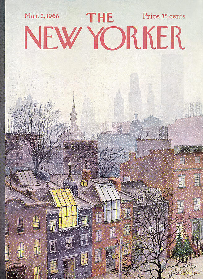 New Yorker March 2, 1968 Painting by Albert Hubbell