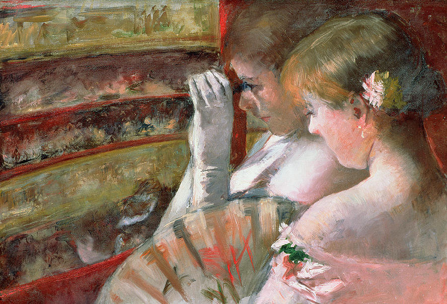 Mary Stevenson Cassatt Painting - In The Box by Mary Stevenson Cassatt