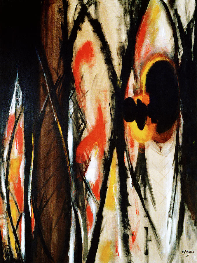 Abstract Painting - In The Burning Thistle I See The Heart Of Man by R Johnson