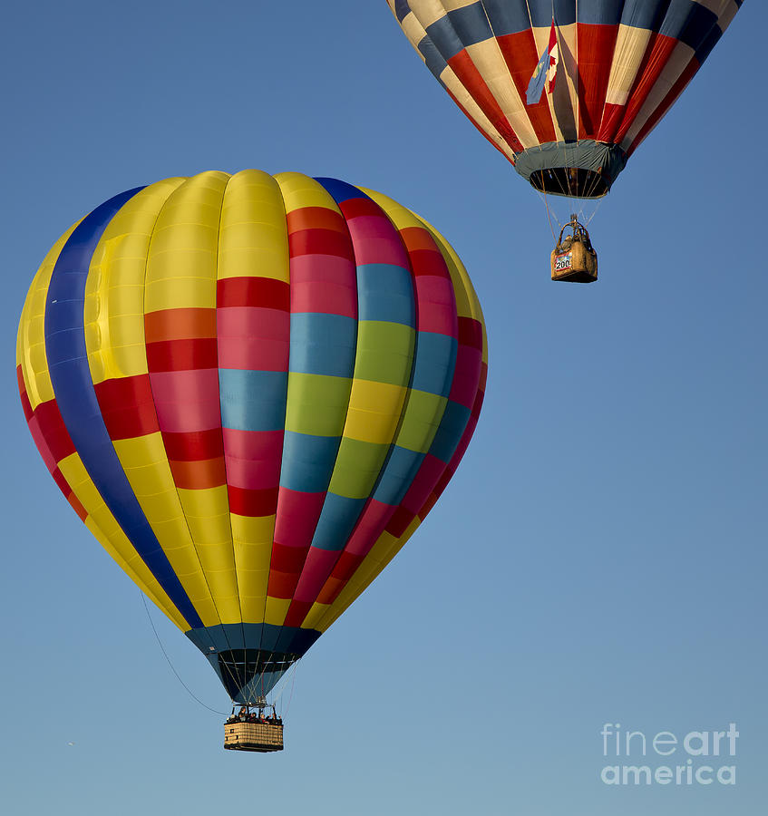 Balloon Photograph - In The Clear Blue Skies by Linda D Lester