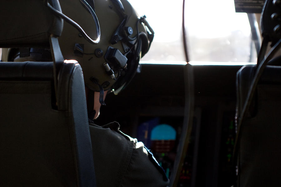 Pilot Photograph - In The Cockpit by Paul Job