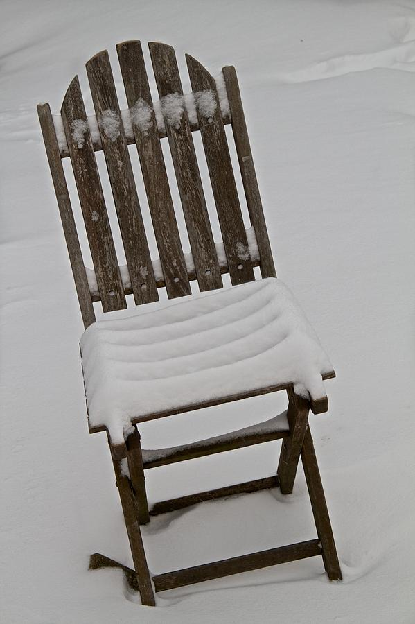 Chair Photograph - In The Cold by Odd Jeppesen