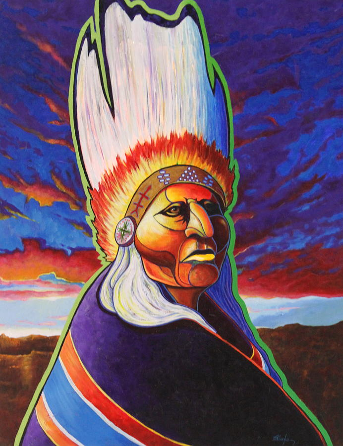 Landscape Painting - In The Company Of My Ancestors by Joe  Triano