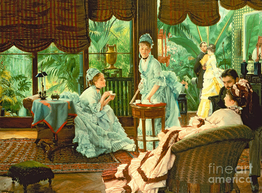 In Painting - In The Conservatory  by James Jacques Tissot