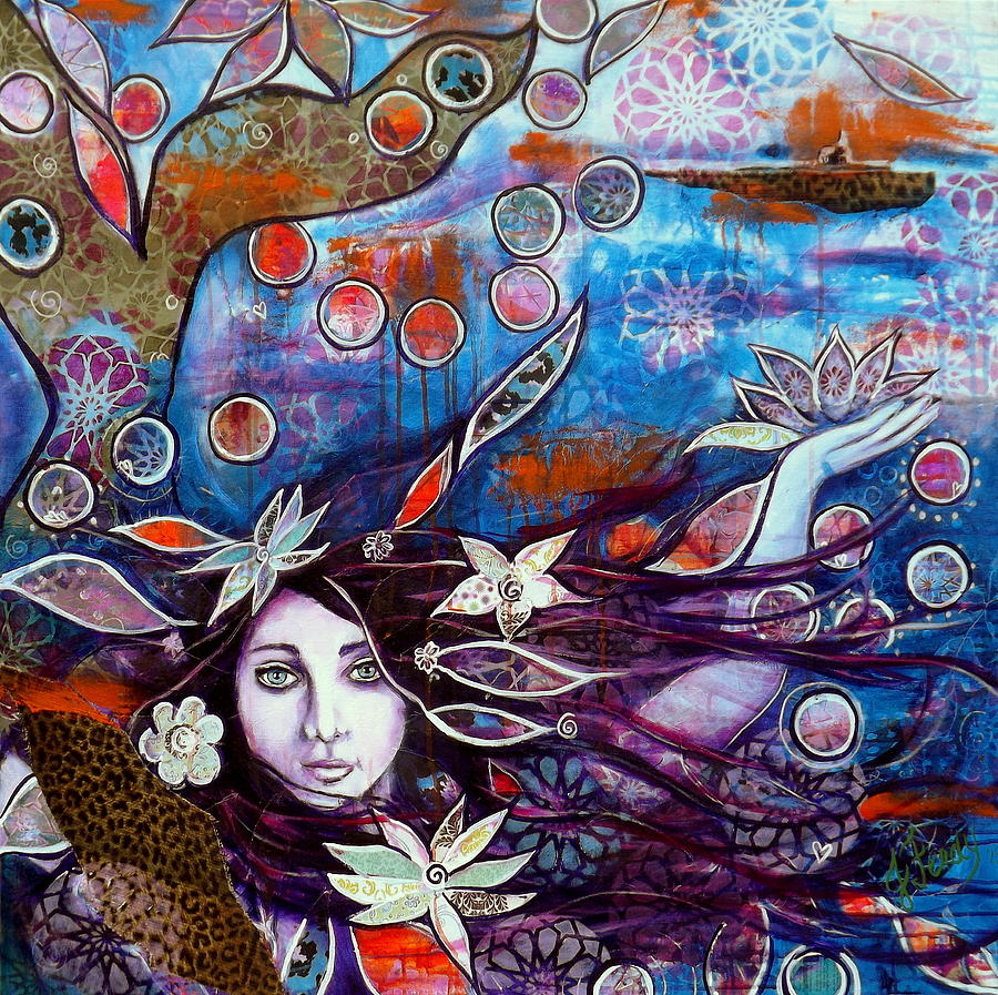 Collage Painting - In The Deep by Goddess Rockstar