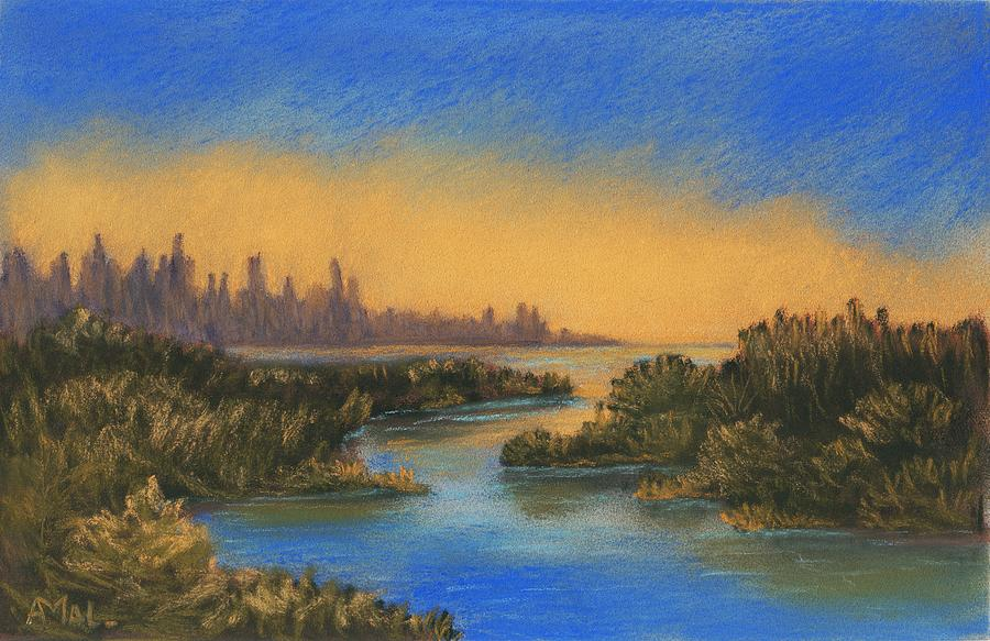 Landscape Painting - In The Distance by Anastasiya Malakhova