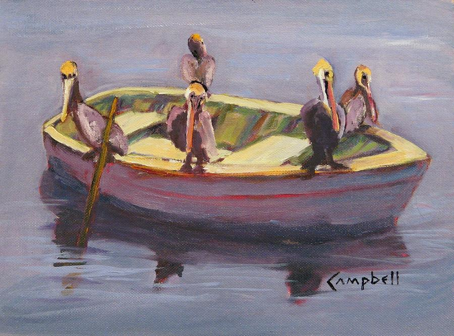 Rowboat Painting - In the Doldrums by Cecelia Campbell