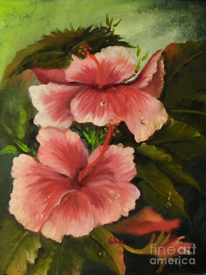 Flowers Painting - In The Early Morning Rain by Sharon Burger