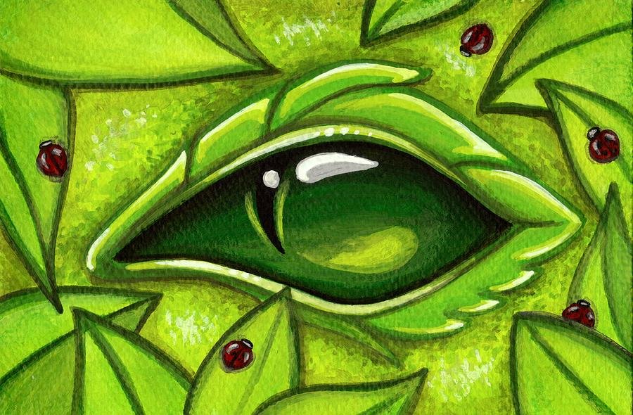 Green Dragon Painting - In The First Leaves Of Spring by Elaina  Wagner