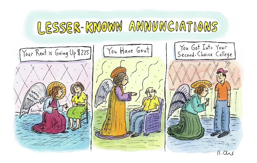 In The First Panel Drawing by Roz Chast