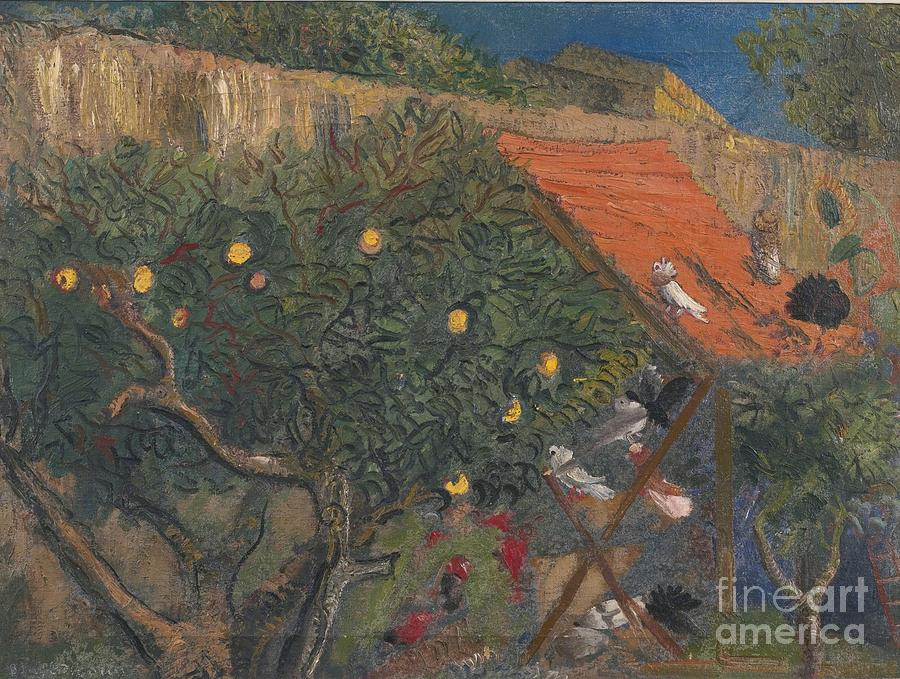 Russia Painting - In The Garden by Celestial Images