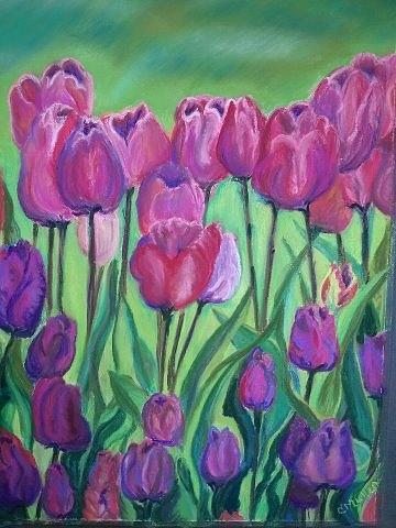 Original Painting - In The Garden by Christine Mullen