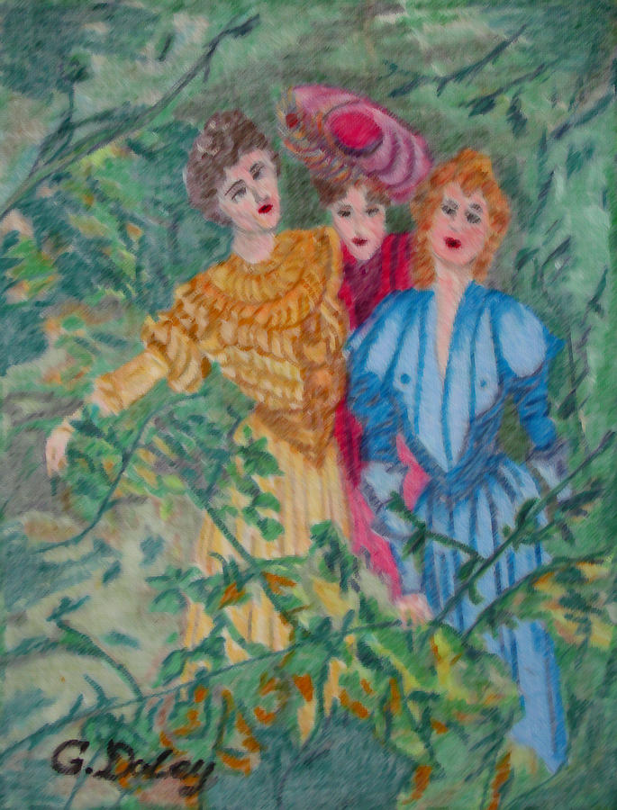 Gardens Painting - In The Garden by Gail Daley