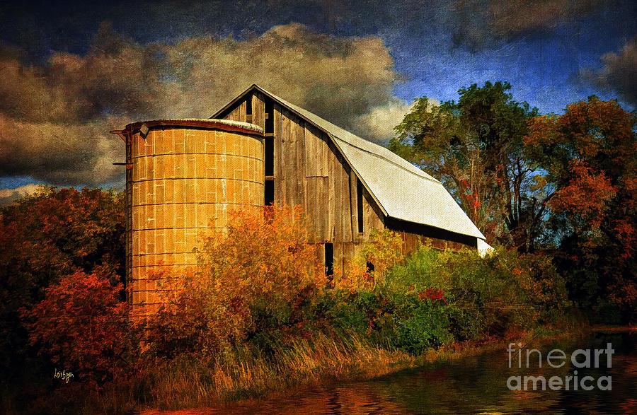Barn Photograph - In The Gloaming by Lois Bryan
