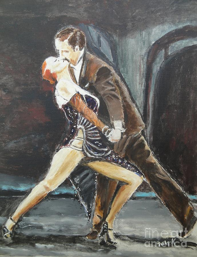 Tango Painting - In The Heat Of The Night by Judy Kay