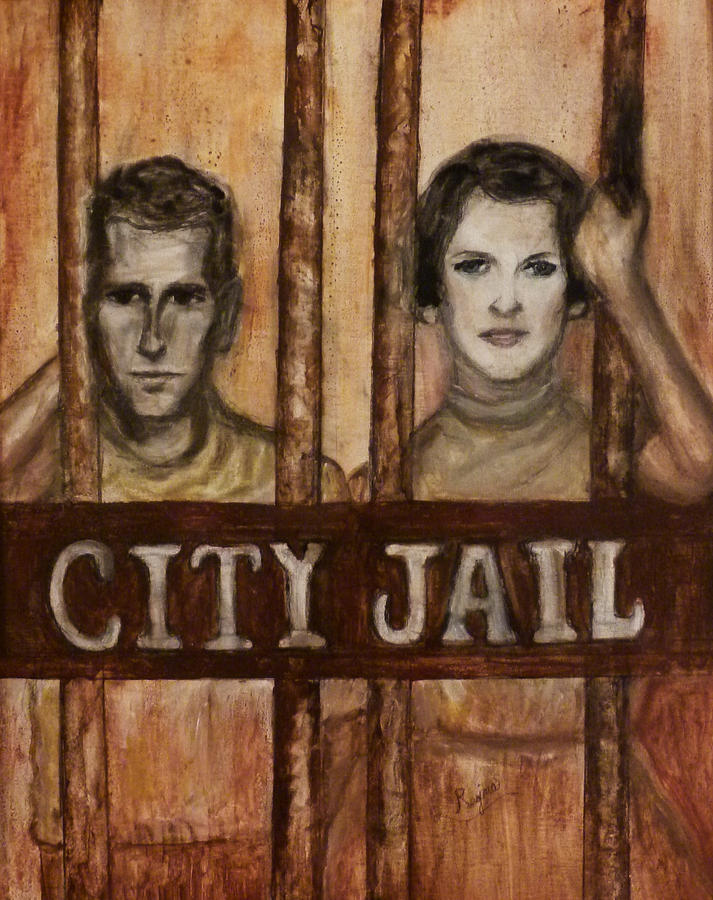 Jail Painting - In The Jailhouse Now by Regina Brandt