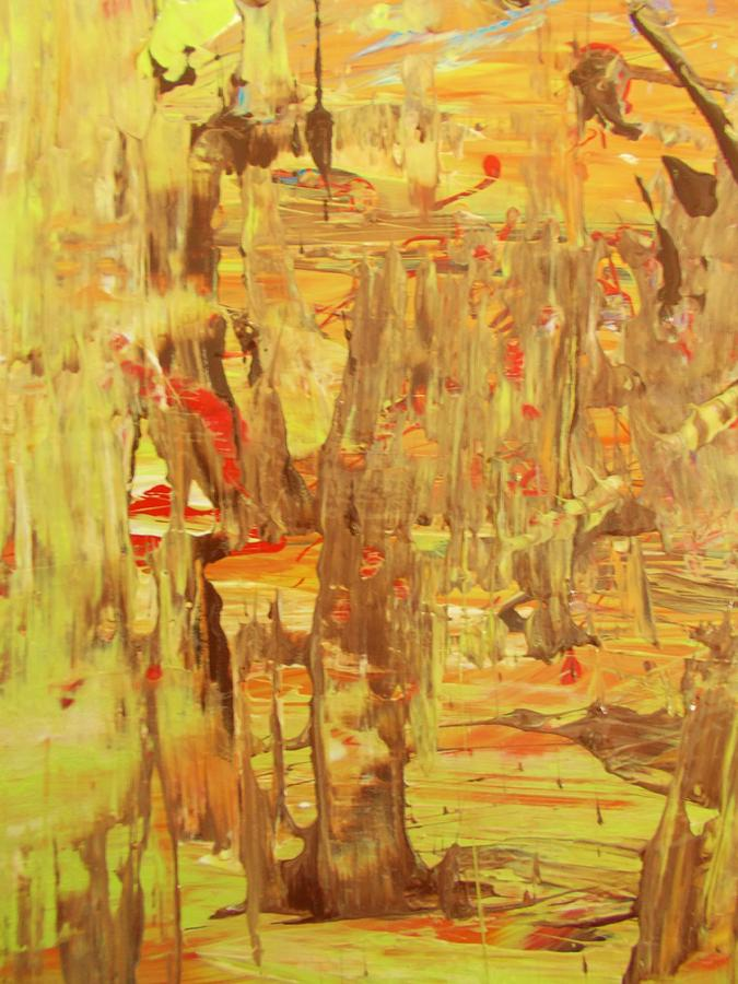 Original Painting - in the Jamaica forest by Artist Ai