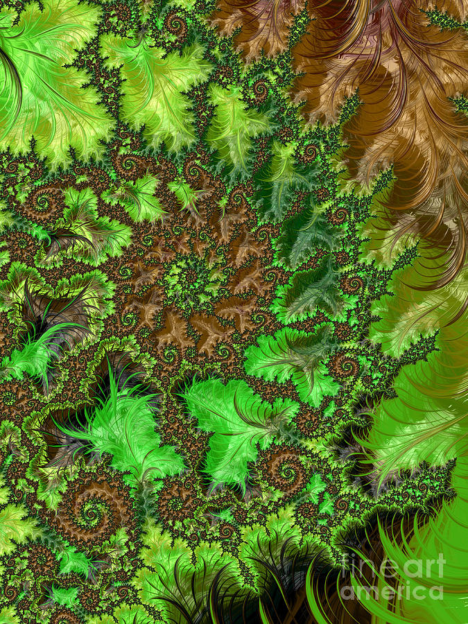 Abstract Digital Art - In The Jungle  by Heidi Smith