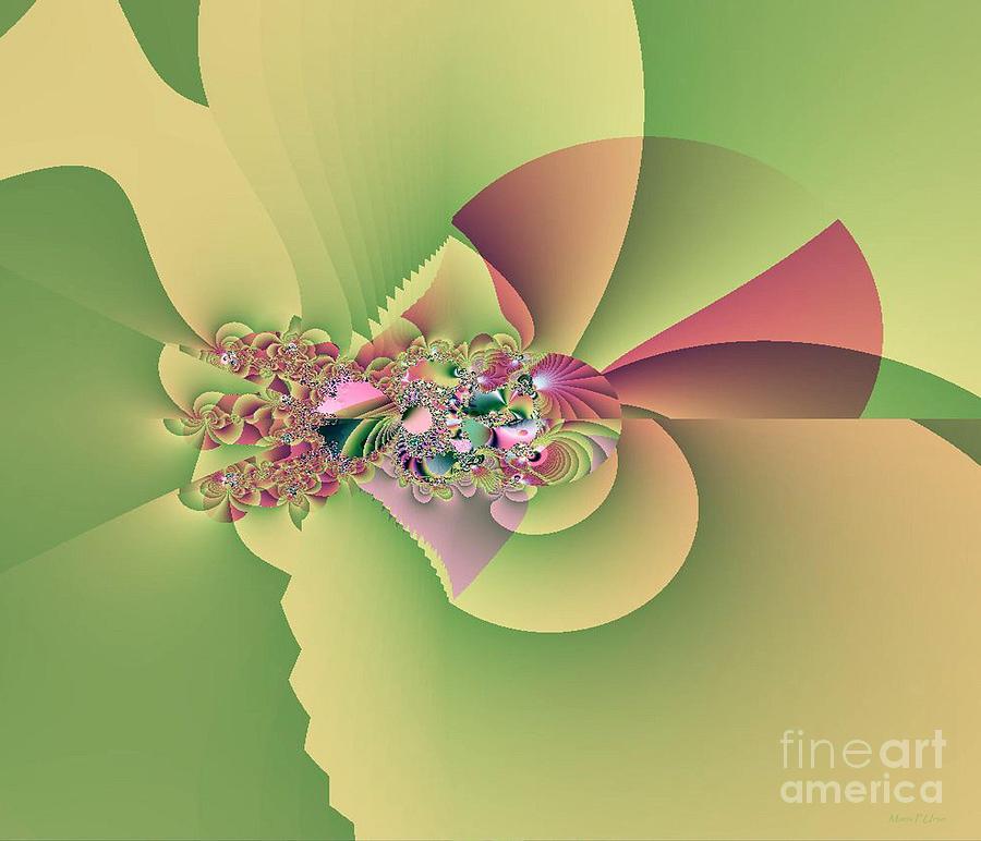 Fractal Digital Art - In The Land Of Fairies by Maria Urso
