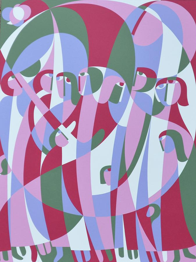 In The Life Photograph - In The Life, 1999 Acrylic On Board by Ron Waddams