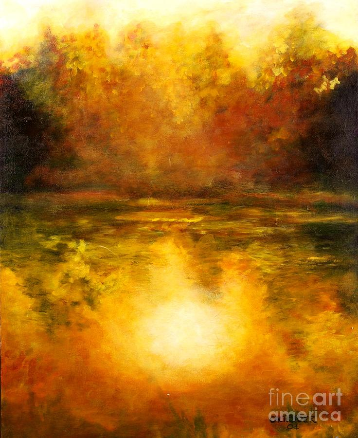 Landscape Painting - In The Light Of Day by Alison Caltrider