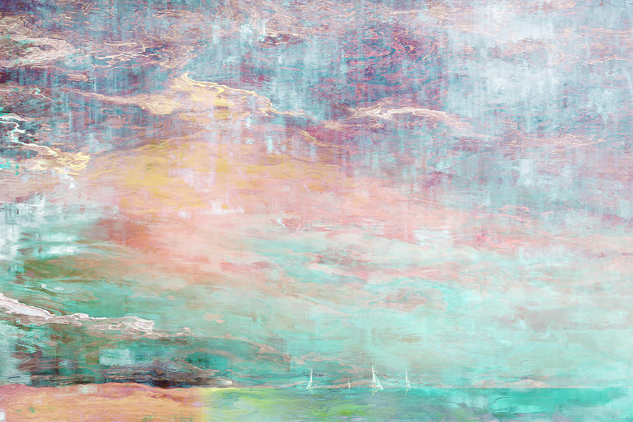 Seascape Mixed Media - In The Light Of Each Other by Jaison Cianelli
