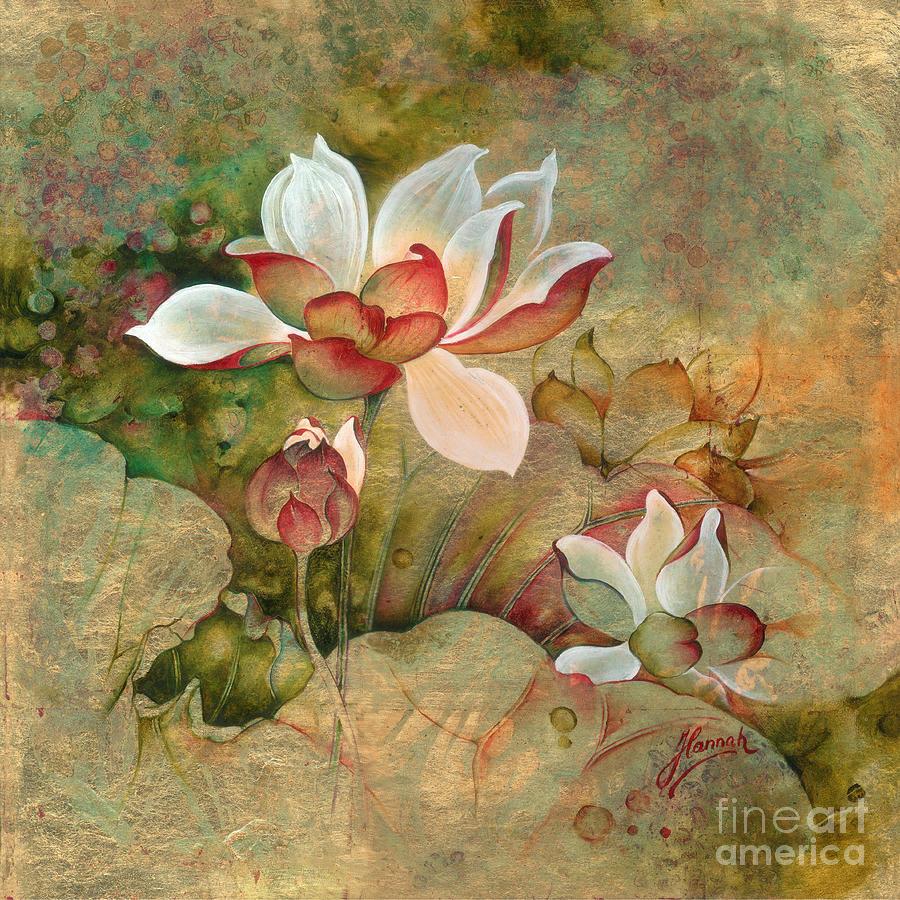 Lotus Painting - In the Lotus Land by Anna Ewa Miarczynska