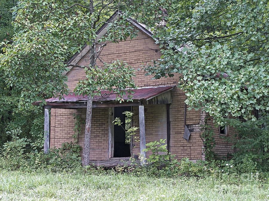 Abandoned Photograph - In The Middle Of Nowhere by Ann Horn