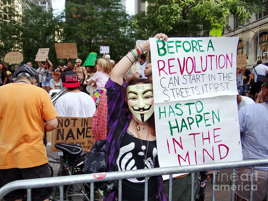 Occupy Wall Street Photograph - In The Mind by Ed Weidman