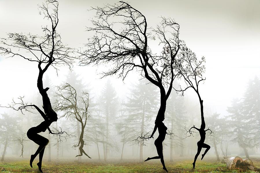 Dancing Digital Art - In The Mist by Igor Zenin