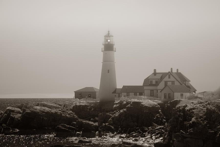 Atlantic Ocean Photograph - In The Mist by Joann Vitali