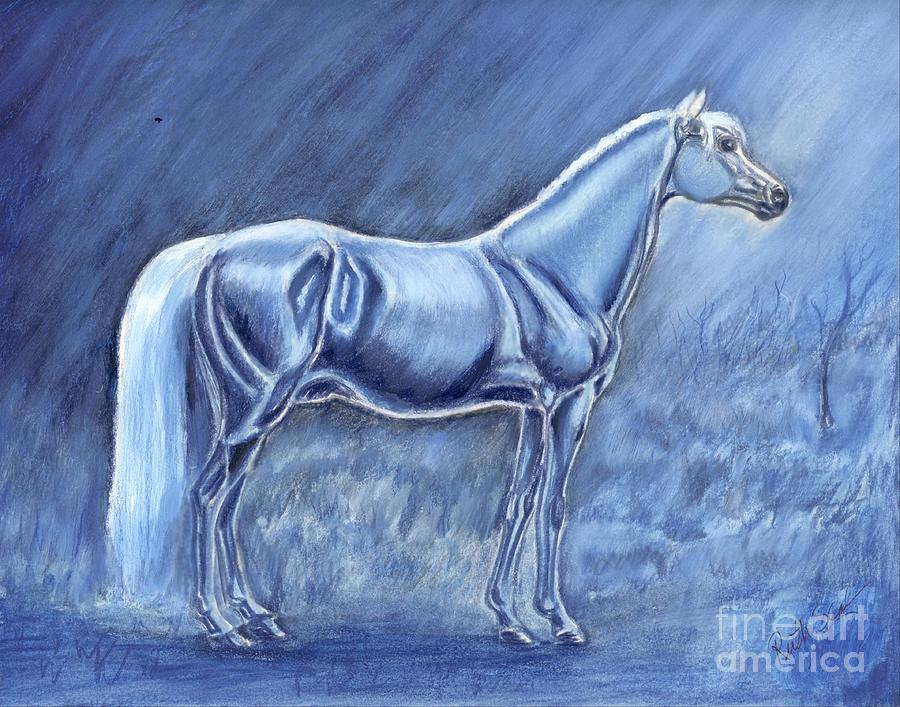 Animals Painting - In The Misty Moonlight by Ruth Seal