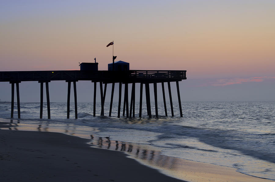 Morning Photograph - In The Morning On The Beach Ocean City by Bill Cannon