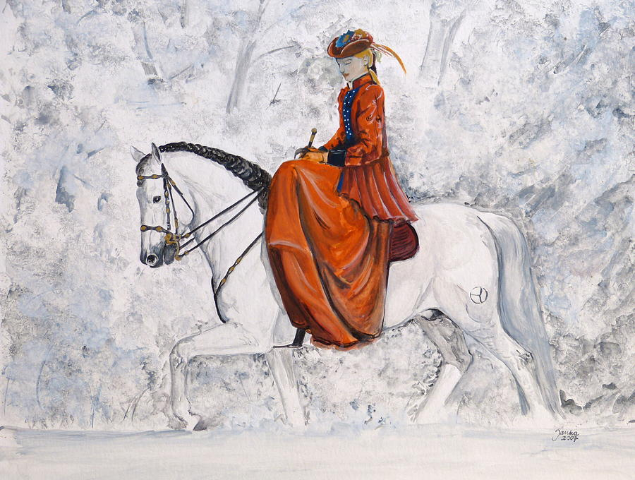 Andalusian Horse Painting - In The Morning Sun by Janina  Suuronen
