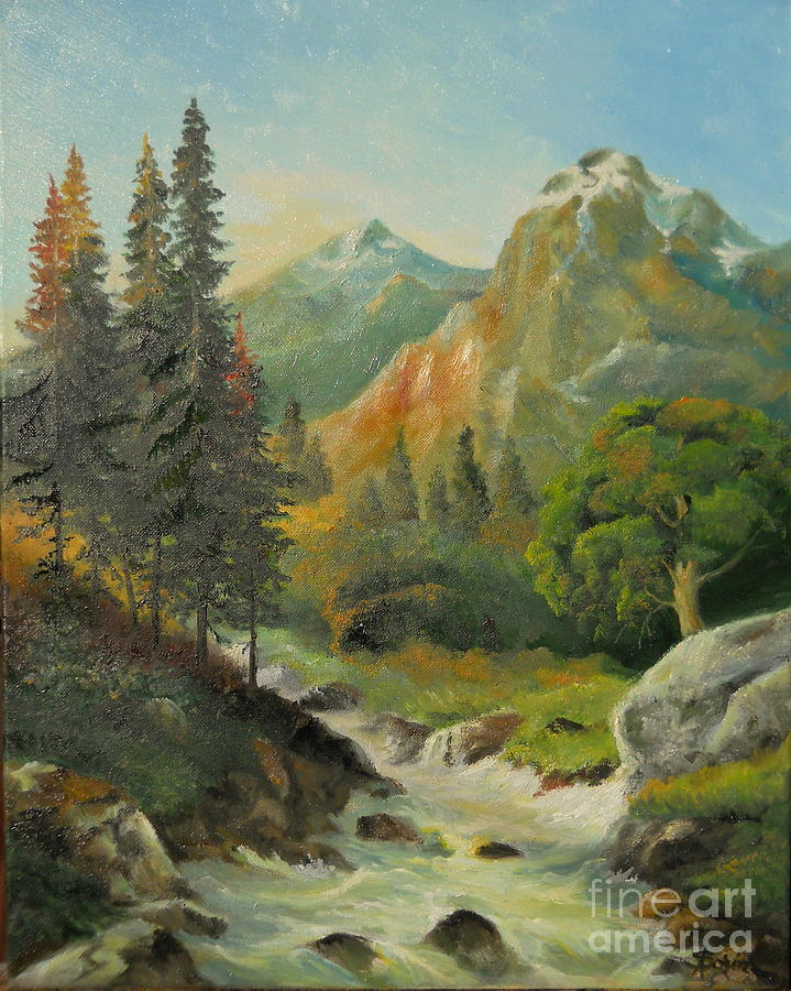 In The Mountains Painting