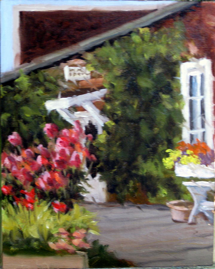 Flowers Painting - In The Patio by Char Wood